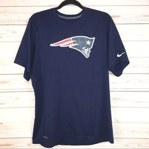NFL New England PATRIOTS Nike Dri-Fit Navy Shirt L